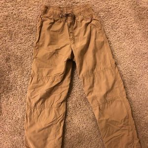 Gymboree boys fleece lined khaki pants